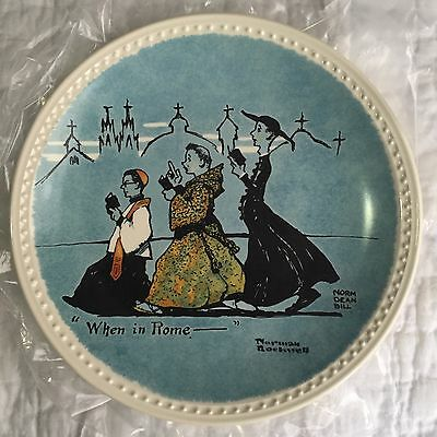 Norman Rockwell On Tour Plates