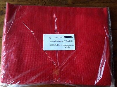 Zweigart 18 Count Aida - Christmas Red