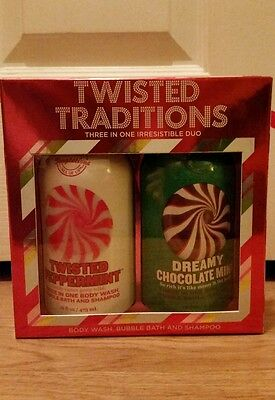Bath & Body Works Temptations Twisted Peppermint Chocolate Mint 3 in 1 Gift Box