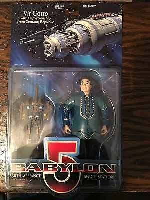 Babylon 5 Earth Alliance Space Station Vir Cotto Figure with Centauri Warship