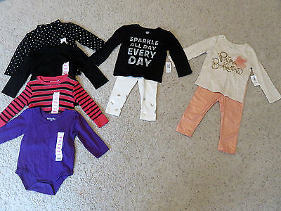 Girl's NWT lot  6 tops 2 pants Old Navy Kids Corner size 12-18M