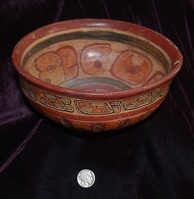 Pre-Columbian ~ MAYAN ~ Pre-Colombian Polychrome BOWL ~ NR
