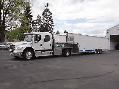 Make offer / will separate - 05 Freightliner M2 with 1997 custom trailer .
