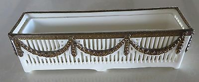 Lovely Antique Roesler Reticulated Porcelain Planter with Insert