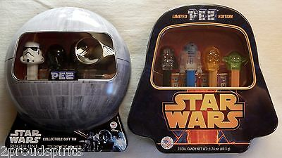 NEW STAR WARS ROGUE ONE AND STAR WARS CRYSTAL HEADS Limited Edition Pez Tins