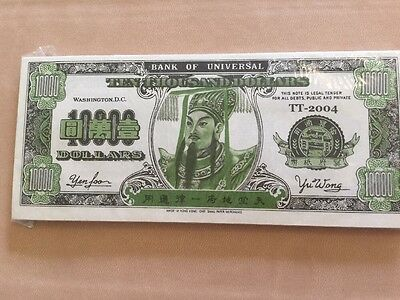Authentic Hell Bank Note Ten Thousand Dollars Funny Money Collectors