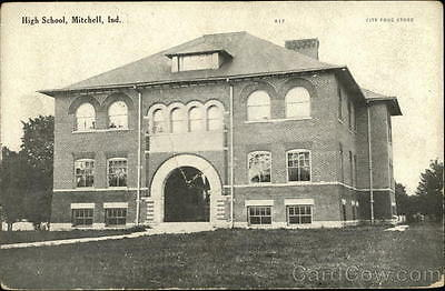 Mitchell IN High School Lawrence County Indiana Art Mfg. Co Divided Back PC