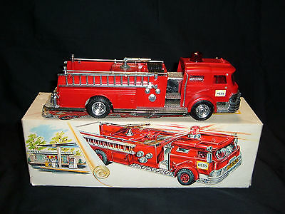1970 Hess Toy Fire Engine Truck by Marx in Original Box