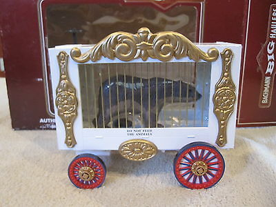 Bachmann 92703 G Scale Circus Cage Wagon With Bear