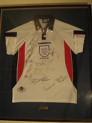 Fantastic Gift! England World Cup Squad Signed Football Shirt - France 1998