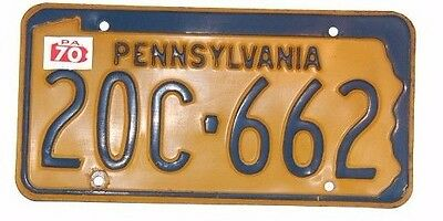 Vintage Pennsylvania 1970 PA License Plate 20C 662