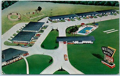 Oklahoma City ROUTE 66 Postcard THE WILSHIRE MOTEL Highway 66 Roadside 1955