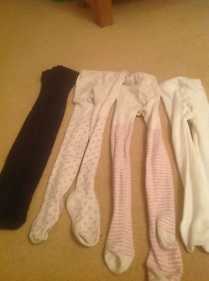 4 X PAIRS GIRLS TIGHTS AGE 3-4 yrs