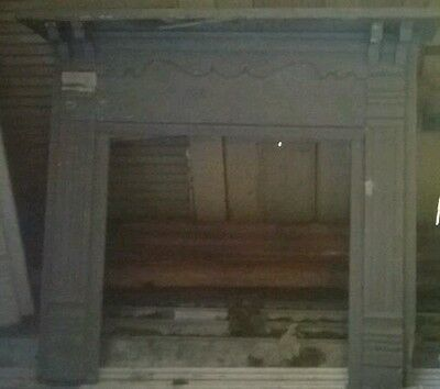 Brown Mantel Fireplace