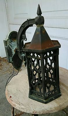 "Mission Porch Light Arts and Crafts Fixture Bungalow Tudor 14"" High Sconce"