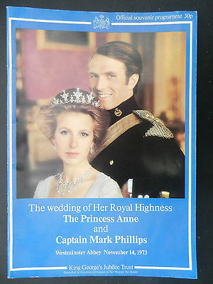 Souvenir Programme Wedding of Princess Anne & Captain Mark Phillips 14 Nov 1973
