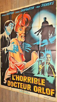 L' HORRIBLE DOCTEUR ORLOFF  !  jess franco affiche cinema  1963