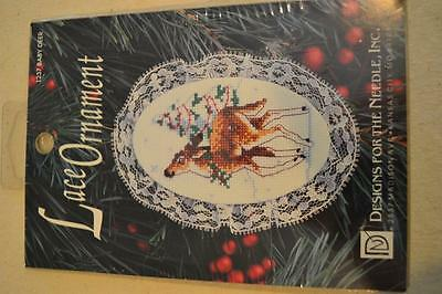 Counted Cross Stitch Embroidery Kit: Lace Ornament Baby Deer FREEPOST IN AUST