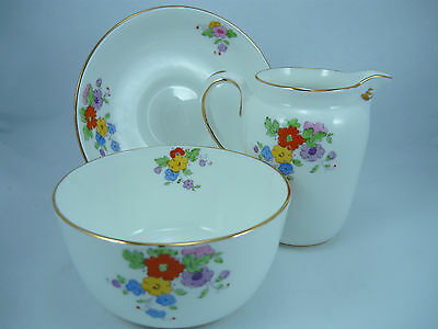 New Chelsea Staffordshire Milk Jug,sugar Bowl And Plate
