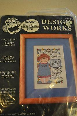 """Counted Cross Stitch Embroidery Kit: Design Works #9392 """"Sleep"""" FREEPOST IN AUST"""