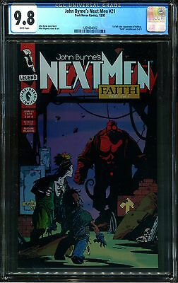 Next Men 21 Cgc 9.8-1St Full Color App Hellboy-Mike Mignola-John Byrne-Dh