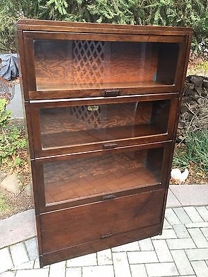 Lundstrum 4 stack Mahogany Barrister Bookcase..Mid Century beauty!