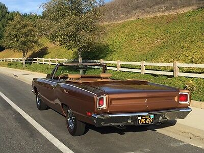 1969 Plymouth Road Runner CONVERTIBLE 1969 69 PLYMOUTH ROAD RUNNER ROADRUNNER CONVERTIBLE