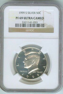 1999-S Kennedy Proof Silver Half Dollar - Graded NGC PF 69 Ultra Cameo