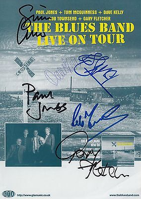 The Blues Band - SIGNED Flyer 2012