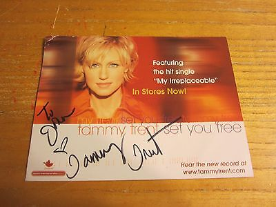 Tammy Trent Christian Musician Autographed Signed 4.5X6 Photo