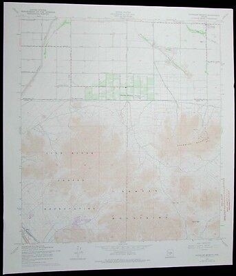 Chandler Heights Arizona Gila River Indian Reservation 1975 old USGS Topo chart