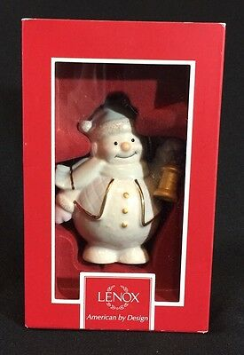 Lenox Snowman with Lantern  Christmas ornament 6th & last in series  2004