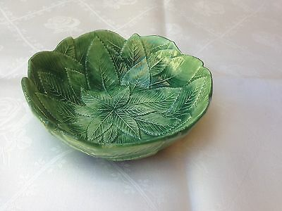 Vintage Italy Green Leaf Bowl