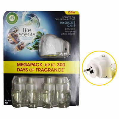 Air Wick Air Freshener Diffuser w/4PK Refill/Electric Automatic Power Plug Spray