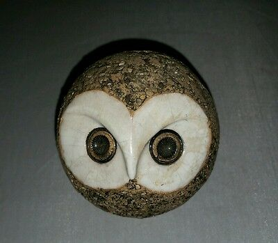 Rare Mid-Century Kaarina Aho snow Owl Sculpture Signed AHO Made in Finland