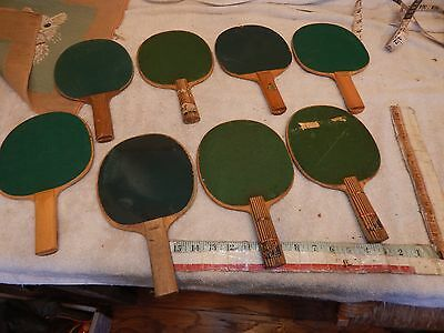 vintage ping pong paddle lot wood paddle 1940s 50s lot game