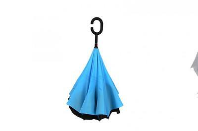 Modern C-Handle Double Layer Inside-Out/Upside Down/Reverse Umbrella