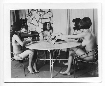 1960s Vintage Nude Photo~4 Perky Busty Big Boobs Nudist Pinups Relaxing Outside