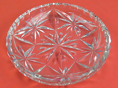 Antique Cut Crystal Glass Bowl STUNNING 5.75 inches Nut Candy