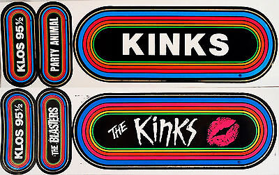 The KINKS Lot Of 2 80's KLOS Rainbow Concert Bumper Stickers The Blasters