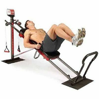 Total Gym 1900 Ultimate Home Fitness Exercise Machine Equipment w/ Workout DVD'