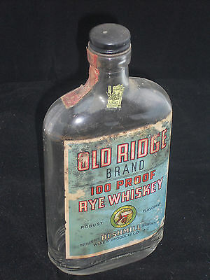 Old Ridge 100 Proof Rye Whiskey Pint Bottle Bushmill Scranton PA