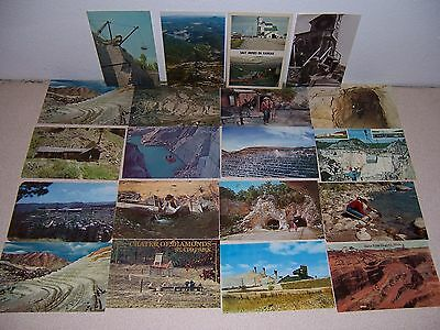 1950s-70s OLD VTG USA MINES & GOLD MINER PHOTO POSTCARD LOT of 20 DIFF