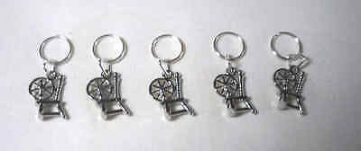 Stitch markers with Spinning Wheel Charms