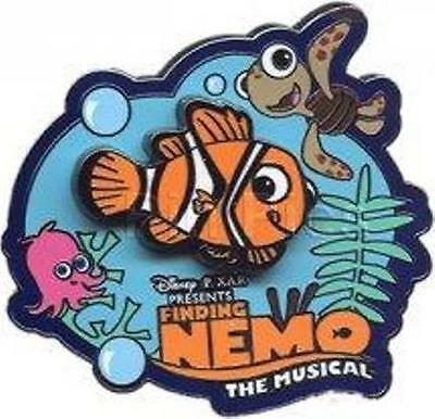 NEMO & SQUIRT FINDING NEMO The MUSICAL LOGO Disney PIN
