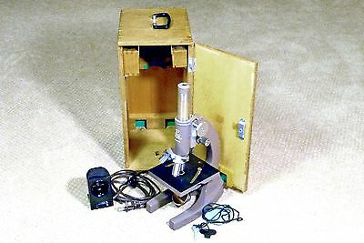 Propper Professional Microscope With Wood Carring Case