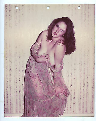 1970s Vintage Nude Photo~Busty Big Boobs Pink Nipples Plump Redhead Pinup Poses