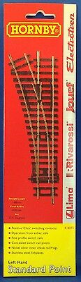 Hornby R8072 Left Hand Standard Point Turnout Switch OO Scale