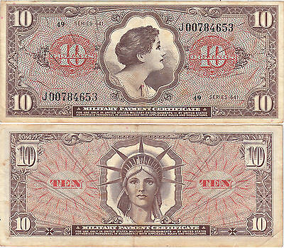 1965-68 $10 Series 641 Vietnam issue Military Payment Certificate VF
