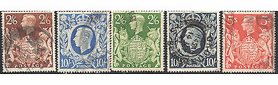 set of George VI high values 2/6 and 10/ catalog $46.00